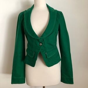 A/X Armani Exchange  Green Cropped Blazer L